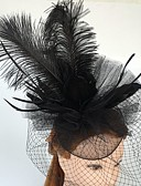 cheap Women's Hats-Tulle / Feather / Net Fascinators / Headwear / Birdcage Veils with Floral 1pc Wedding / Special Occasion / Casual Headpiece