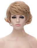 preiswerte Unterröcke für Hochzeitskleider-Synthetische Perücken Wellen Minaj Stil Asymmetrischer Haarschnitt Kappenlos Perücke Gold Rotblond Synthetische Haare Damen Natürlicher Haaransatz Gold Perücke Kurz