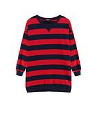 preiswerte Damen Kapuzenpullover & Sweatshirts-Damen Pullover Gestreift Baumwolle