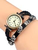 cheap Bracelet Watches-Women's Quartz Wrist Watch / Bracelet Watch Cool Leather Band Vintage / Casual / Skull / Bohemian / Cartoon / Fashion / Bangle Black /