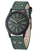 ieftine Ceasuri La Modă-Bărbați Ceas Sport Ceas Militar Ceas de Mână Quartz Piele Negru / Maro / Verde Calendar Cool Analog Vintage Casual Modă - Cafea Maro Verde