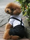 tanie Welony ślubne-Psy Kostium / Smoking Ubrania dla psów Kolorowy blok czarny / biały Terylen Kostium Dla zwierząt domowych Męskie Cosplay / Ślub