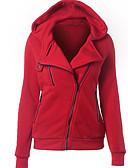 お買い得  レディースフーディー&スウェットシャツ-女性用 ストリートファッション パーカー - ソリッド