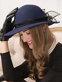 お買い得  メンズフーディー&スウェットシャツ-ウール チュール フラワー  -  魅力的な人 帽子 1個 結婚式 パーティー カジュアル かぶと