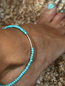 cheap Women's Dresses-Anklet - Simple Style Black / Blue For Wedding / Party / Daily / Women's