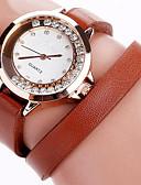 preiswerte Kleideruhr-Damen Armbanduhr Cool / Punk / Imitation Diamant PU Band Charme / Retro / Freizeit Schwarz / Weiß / Blau