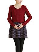 preiswerte Kleider-Damen Einfach Baumwolle A-Linie Kleid Solide Mini