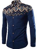 billige Herreskjorter-Skjorte Herre-Ensfarget Geometrisk Vintage