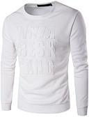 お買い得  メンズフーディー&スウェットシャツ-男性用 活発的 スリム 長袖 スウェットシャツ - レタード ラウンドネック