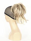 abordables Sombreros de mujer-Coletas Pelo sintético Pedazo de cabello La extensión del pelo Recto Corta