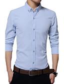 זול חולצות פולו לגברים-אחיד סגנון רחוב כותנה, חולצה - בגדי ריקוד גברים