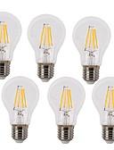 halpa Urheilukello-KWB 6kpl 4W 350-450lm E26 / E27 LED-hehkulamput A60(A19) 4 LED-helmet COB Vedenkestävä Koristeltu Lämmin valkoinen Kylmä valkoinen