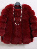 cheap Women's Fur Coats-Women's Vintage Fur Coat - Solid Colored / Fall