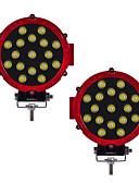 abordables Correa de acero inoxidable-KAWELL 2pcs Coche Bombillas 51W 3100lm LED Luz de Trabajo