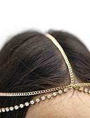 billige Moderigtige hårsmykker-Dame Vintage Sødt Fest Rhinsten Pandekæde - Messing