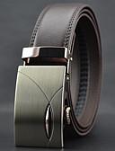 baratos Cintos de Moda-Homens Luxo Trabalho Casual Pele Liga, Cinto para a Cintura - Fashion Sólido