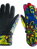 tanie Modne czapki i kapelusze-Rękawice narciarskie Męskie Damskie Full Finger Keep Warm Wodoodporny Quick Dry Wiatroodporna Odśnieżający Antypoślizg Sztuczna skóra