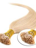 olcso Kvarc-Febay Fúziós / I típus Human Hair Extensions Egyenes Emberi haj 100 szál Sötét aranybarna Blonde Fényes szőke