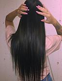 """tanie Skóra-Włosy naturalne remy Full lace bez kleju Pełna siateczka Peruka Włosy indyjskie Prosta Peruka 120% Gęstość włosów z Baby Hair Naturalna linia włosów W 100% ręcznie wiązane Damskie 24"""" 10"""" 12 cali"""