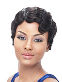 cheap Evening Dresses-Synthetic Wig Wavy / Finger Wave Style Capless Wig Black Natural Black Synthetic Hair Women's African American Wig Black Wig Short Halloween Wig