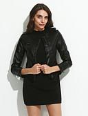 זול ז'קטים מעור-Women's Long Sleeve Evening/Career PU Leather Jacket