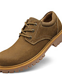 cheap Men's Downs & Parkas-Men's Leather Shoes Cowhide Spring / Fall Comfort Oxfords Slip Resistant Yellow / Camel