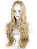 billige Armbåndsur-Syntetiske parykker Bølget Blond Syntetisk hår Blond Parykk Dame Lang Lokkløs Blond