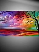 お買い得  レディースセーター-ハング塗装油絵 手描きの - 花柄 / 植物の 近代の キャンバス