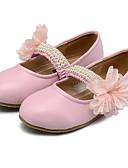olcso Menyasszonyi sálak és stólák-Lány Cipő Bőrutánzat Tavaszi nyár Kényelmes / Virágoslány cipők Lapos Gyöngydíszítés / Virág / Tépőzár mert Bézs / Barack / Rózsaszín