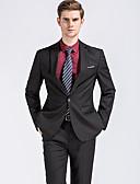 abordables Americanas y Trajes de Hombre-Hombre Chic de Calle Tallas Grandes trajes Solapa de Pico - Un Color
