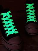 abordables Corbatas y Pajaritas para Hombre-1pair deporte luminoso cordones de zapatos resplandor en la noche oscura de color cordones fluorescentes cordones de los zapatos deportivos de deporte atlético