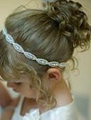 זול שעוני ילדים-אביזרי שיער כל העונות רצועות ראש משי כותנה בנות בנים - לבן