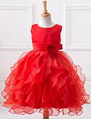 preiswerte Kleider für Mädchen-Mädchen Kleid Ausgehen Solide Polyester Sommer Ärmellos Purpur Rot Blau
