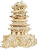 preiswerte Herren Unterwäsche & Socken-Holzpuzzle Berühmte Gebäude Chinesische Architektur Haus Profi Level Hölzern 1pcs Kinder Jungen Geschenk