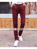 cheap Men's Pants & Shorts-Men's Cotton Suits / Slim Pants - Letter Light Blue / Spring / Fall