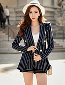 cheap Women's Dresses-DABUWAWA Women's Work Vintage Sophisticated Street chic Jacket-Striped Shirt Collar