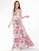preiswerte Damen Kleider-Damen Übergrössen Swing Kleid - Druck Maxi Gurt