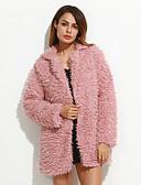 billige Damefrakker og trenchcoats-Løstsiddende Dame Ensfarvet Vintage Frakke
