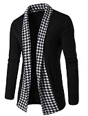 cheap Men's Sweaters & Cardigans-Men's Weekend Long Sleeve Slim Cardigan - Check, Print