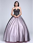 Χαμηλού Κόστους Βραδινά Φορέματα-Βραδινή τουαλέτα Στράπλες / Λαιμόκοψη V Μακρύ Δαντέλα πάνω από τούλι Μπλοκ χρωμάτων Επίσημο Βραδινό Φόρεμα με Χάντρες / Δαντέλα με TS Couture®
