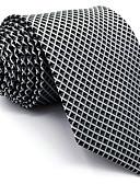 abordables Corbatas y Pajaritas para Hombre-Hombre Básico, Rayón Corbata - Fiesta Trabajo Básico Un Color Bloques Jacquard