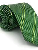 baratos Gravatas e Gravatas Borboleta-Homens Fofo Festa Trabalho Raiom, Gravata - Básico Estampa Colorida Xadrez