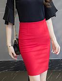 baratos Saias Femininas-Mulheres Tamanhos Grandes Moda de Rua Trabalho Bodycon Saias - Sólido Fenda