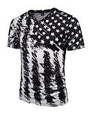 abordables Camisetas y Tops de Hombre-Hombre Punk & Gótico Boho Deportes Estampado - Camiseta, Escote en Pico