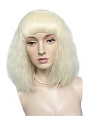 billige Brudepikekjoler-Syntetiske parykker Dame Kinky Curly Blond Bobfrisyre Syntetisk hår Blond Parykk Lokkløs Bleik Blond