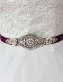 hesapli Kadın Elbiseleri-Saten Düğün Parti / Gece Günlük Kuşak With Taşlı Boncuklama İmistasyon İnci Kuşaklar