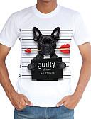 preiswerte Herren T-Shirts & Tank Tops-Herrn Street Schick Sport Strand T-shirt, Rundhalsausschnitt Druck