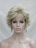 cheap Women's Down & Parkas-Synthetic Wig Curly Blonde With Bangs Synthetic Hair Blonde Wig Women's Short Capless Blonde