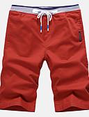 billige Poloskjorter til herrer-Herre Aktiv Gatemote Store størrelser Bomull Tynn Shorts Bukser Ensfarget