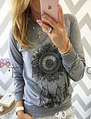 abordables Camisetas para Mujer-Mujer Chic de Calle Tallas Grandes Estampado - Algodón Camiseta Geométrico Manga Mariposa